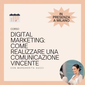 corso in digital marketing in presenza a Milano